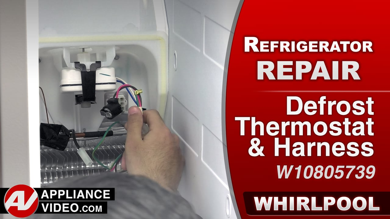 Whirlpool WRS322FDAM Refrigerator – Frost build up – Defrost Thermostat & Harness