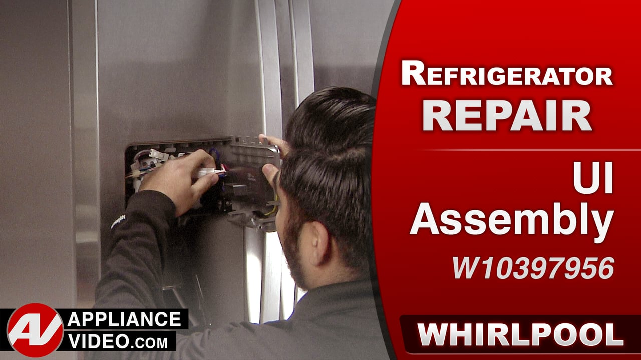 Whirlpool WRS322FDAM Refrigerator – Will not dispense water or ice – UI Assembly