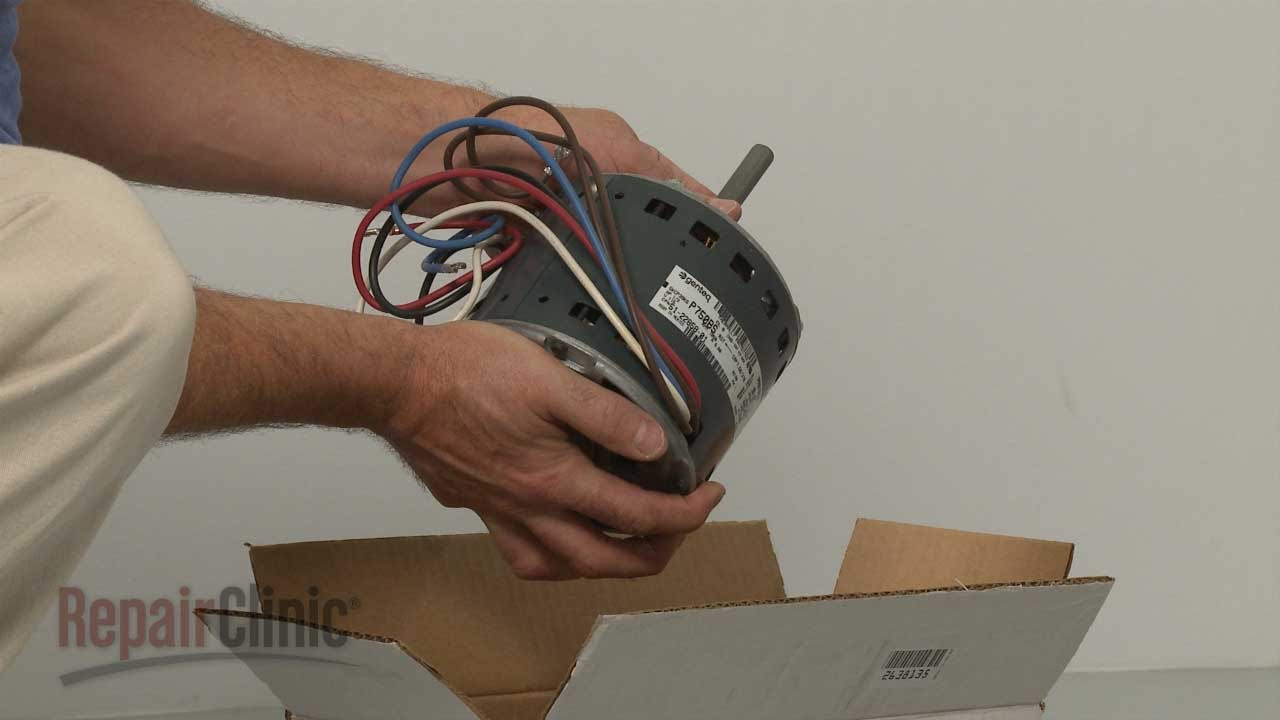 Replacing The Blower Motor On A Rheem Furnace Appliance