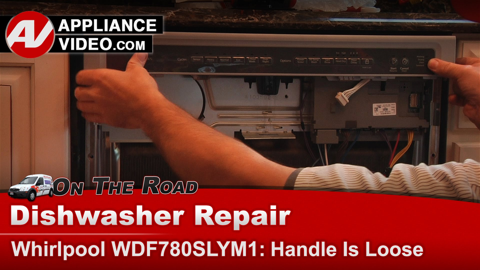 Whirlpool Wdf780slym1 Dishwasher Loose Handle Handle