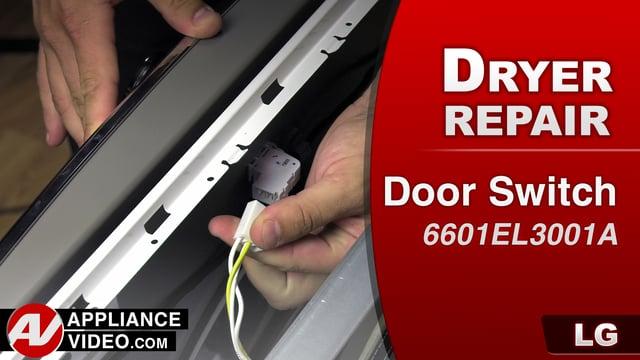 LG DLGX9001W Gas Dryer – DE error code – Door Switch