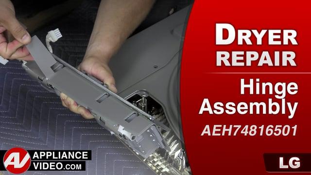 LG DLGX9001W Gas Dryer – DE Error Code – Hinge Assembly