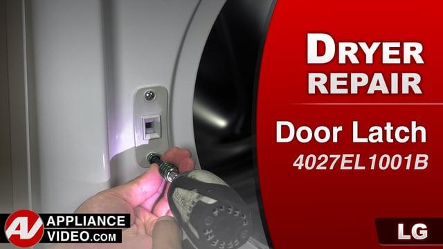 LG DLGX9001W Gas Dryer – DE Error Code – Locker Assembly