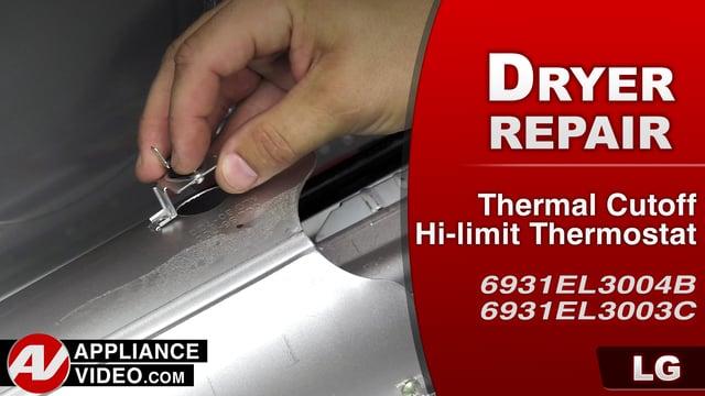 LG DLGX9001W Gas Dryer – Dryer not heating – Hi-limit Thermostat