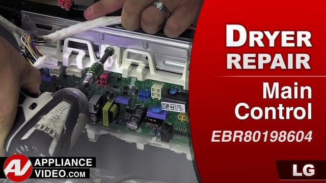 LG DLGX9001W Gas Dryer – EE error code – PCB Main Assembly
