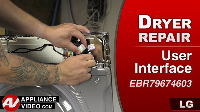 LG DLGX9001W Gas Dryer – EE Error Code – PCB Display Assembly