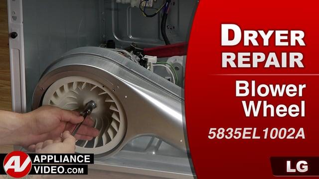 LG DLGX9001W Gas Dryer – Long dry times – Blower Wheel