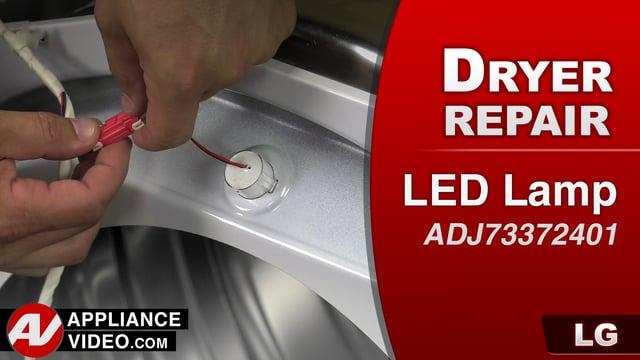 LG DLGX9001W Gas Dryer – No lights – LED Lamp