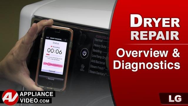 LG DLGX9001W Gas Dryer – Overview & Diagnostics