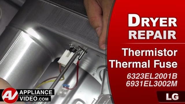 LG DLGX9001W Gas Dryer – TE1 Error Code – Thermistor