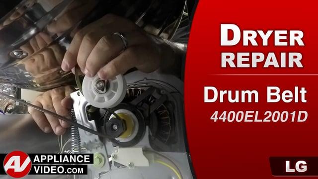 LG DLGX9001W Gas Dryer – Will not start – Drum Belt