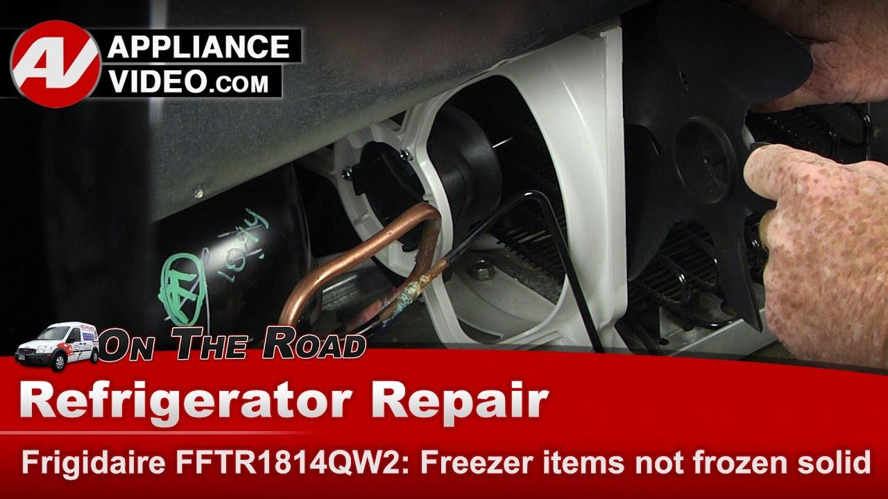 Frigidaire Fftr1814qw2 Refrigerator Items In Freezer Are