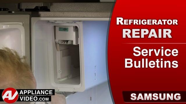 Samsung RF28HMEDBSR Refrigerator – Service Bulletins