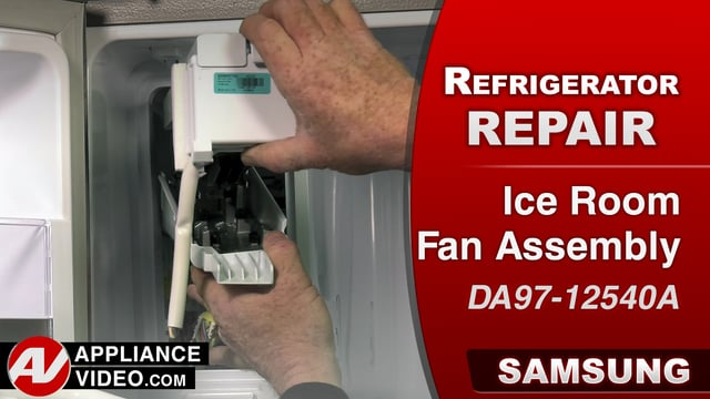 Samsung RF28HMEDBSR Refrigerator – Slow ice production – Ice Room Fan Assembly