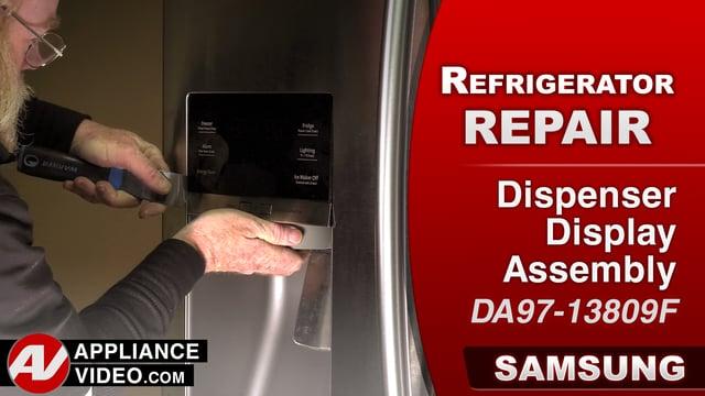 Samsung RF28HMEDBSR Refrigerator – No display – Dispenser Display Assembly