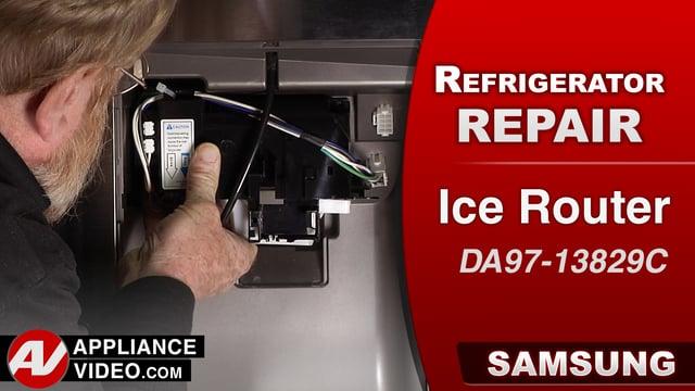 Samsung RF28HMEDBSR Refrigerator – The ice door is stuck close – Ice Dispenser Door Kit