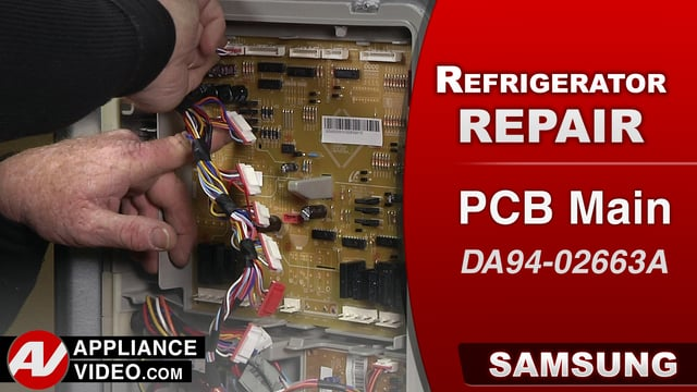 Samsung RF28HMEDBSR Refrigerator – Failure of many components – PCB Main