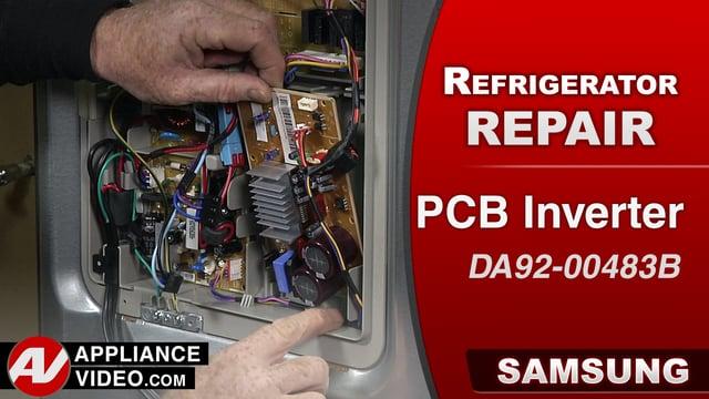 Samsung RF28HMEDBSR Refrigerator – The compressor will not start – PCB Inverter