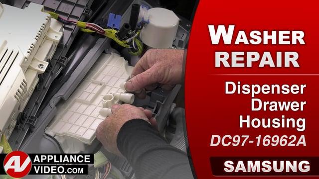 Samsung WA456DRHDS Washer – Leaking water – Dispenser Drawer Housing
