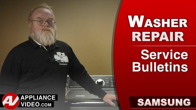 Samsung WA456DRHDS Washer – Service Bulletins