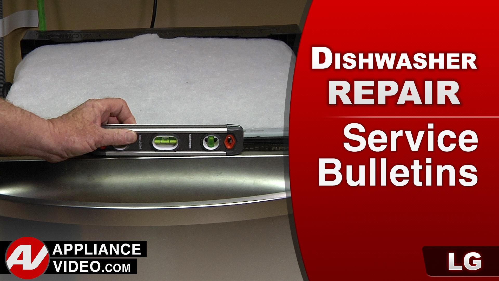 LG LDF7774ST Dishwasher – Service Bulletin