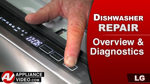 LG LDF7774ST Dishwasher – Overview & Diagnostics