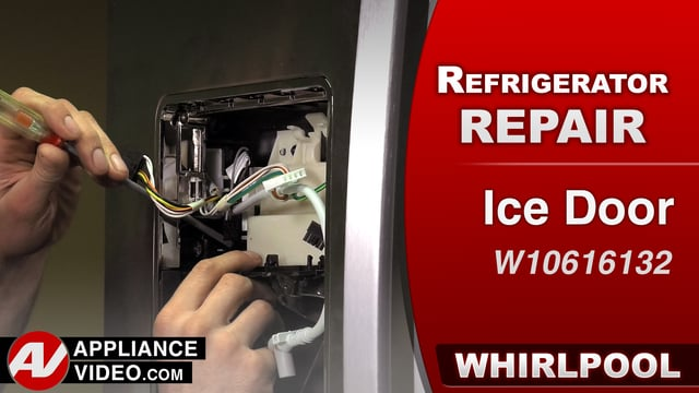 Whirlpool WRF757SDEM01 Refrigerator – Frost build up in the ice chute – Ice Door