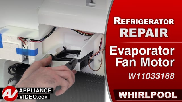 Whirlpool WRF757SDEM01 Refrigerator – Fresh food section not cooling – Evaporator Fan Motor
