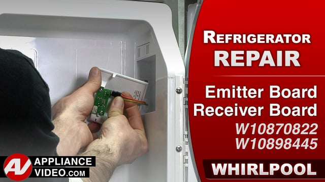 Whirlpool WRF757SDEM01 Refrigerator – No ice production – Receiver Control Board