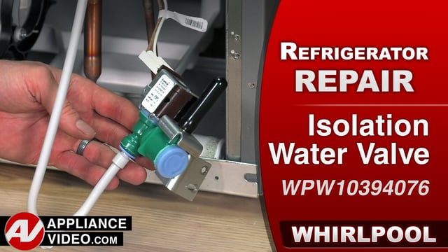Whirlpool WRF757SDEM01 Refrigerator – No water to the unit – Isolation Water Valve