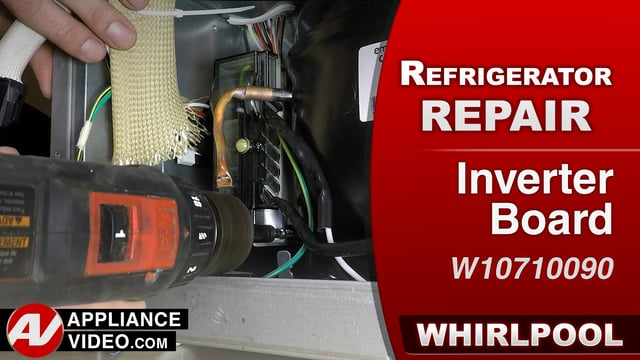 Whirlpool WRF757SDEM01 Refrigerator – The compressor will not run – Inverter Board
