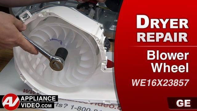 GE GTD33EASK0WW Dryer – Loud grinding noise – Blower Wheel