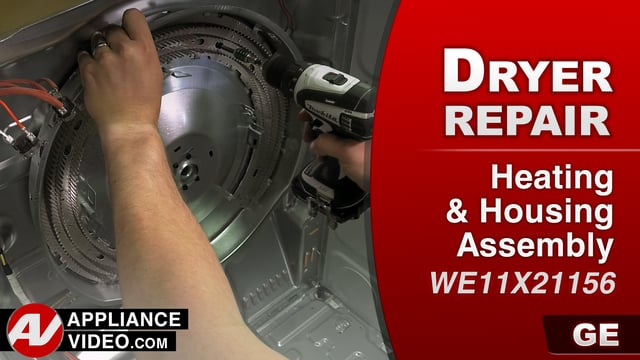 GE GTD33EASK0WW Dryer – No heat – Heater & Housing Assembly