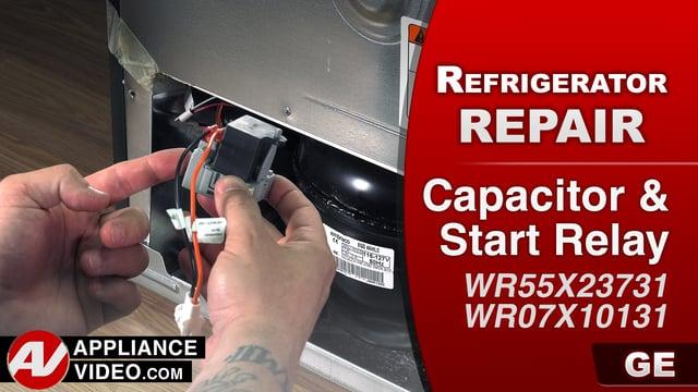 GE GFE28HMKES Refrigerator – Clicking noise – Capacitor