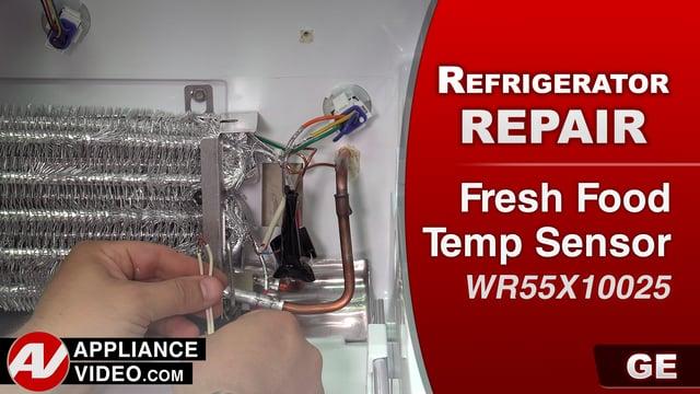 GE GFE28HMKES Refrigerator – Error code 0006 – Fresh Food Temp Sensor