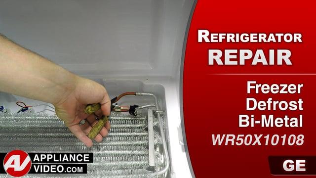 GE GFE28HMKES Refrigerator – Error code 0004 – Freezer Defrost Bi-Metal