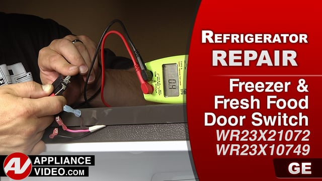 GE GFE28HMKES Refrigerator – No lights – Freezer Door Switch