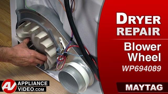 Maytag MEDC555DW2 Dryer – Low rumbling noise – Blower Wheel
