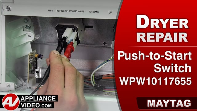 Maytag MEDC555DW2 Dryer – Will not run – Push-to-Start Switch