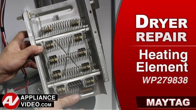Maytag MEDC555DW2 Dryer – Will not heat – Heating Element