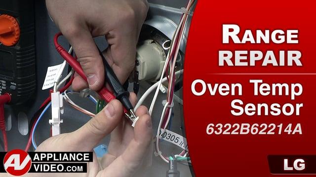 LG LRG3091ST Oven – Oven wont reach temperature – Oven Temp Sensor