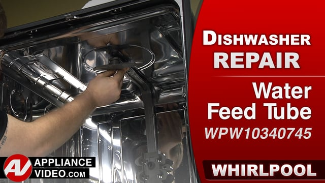 Whirlpool WDF560SAFM2 Dishwasher – Water leaking down the front – Water Feed Tube