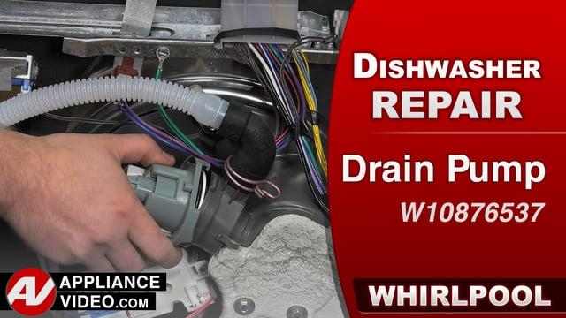 Whirlpool WDF560SAFM2 Dishwasher – Not draining water – Drain Pump