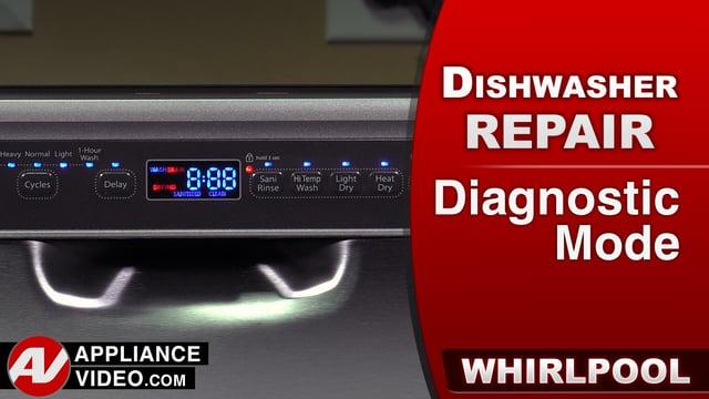 Whirlpool WDF560SAFM2 Dishwasher – Diagnostic Mode