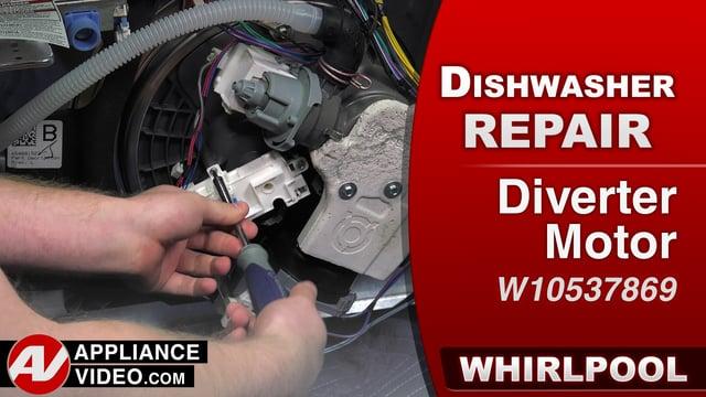 Whirlpool WDF560SAFM2 Dishwasher – Poor cleaning on the top shelf – Diverter Motor