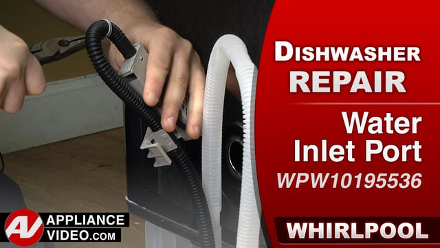 Whirlpool WDF560SAFM2 Dishwasher – Water leaking down the sides – Water Inlet Port
