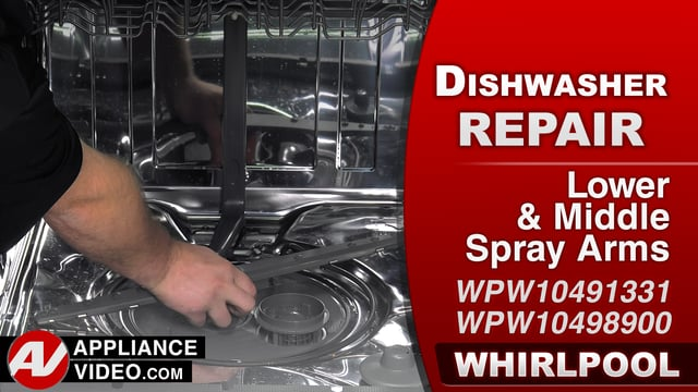 Whirlpool WDF560SAFM2 Dishwasher – Poor cleaning – Spray Arms