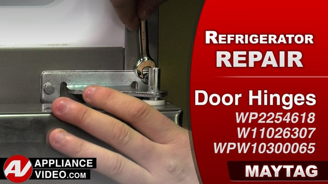 Maytag MRT519SZDM01 Refrigerator – Door not closing properly – Door Hinges