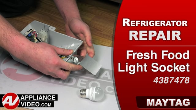 Maytag MRT519SZDM01 Refrigerator – Light flickers or will not turn on – Fresh Food Light Socket