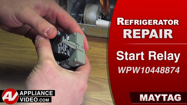 Maytag MRT519SZDM01 Refrigerator – Not cooling – Start Relay and Capacitor